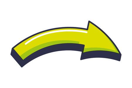 arrow signal isolated icon Ilustração