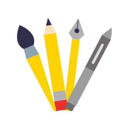 set school supplies icons vector illustration design Illustration