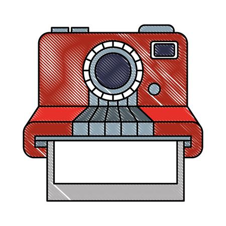 vintage hipster instant photo card vector illustration Illustration