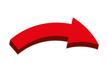 arrow signal isolated icon Banque d'images - 111865196