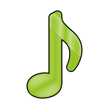 musical note melody isolated icon vector illustration Stock fotó - 111865223