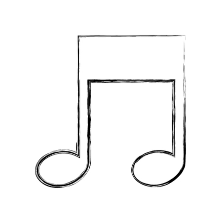 musical note melody isolated icon vector illustration hand drawing Illustration