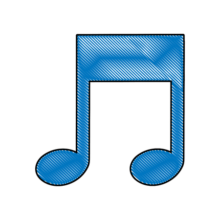 musical note melody isolated icon vector illustration