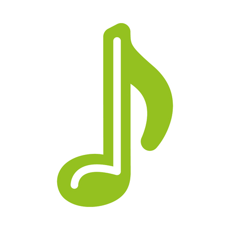 music note isolated icon vector illustration design Иллюстрация