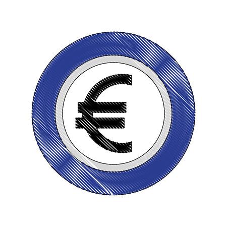 coin currency euro money economy european vector illustration