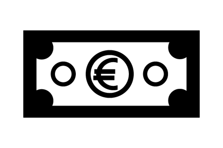 euro money isolated icon vector illustration design Foto de archivo - 111865346
