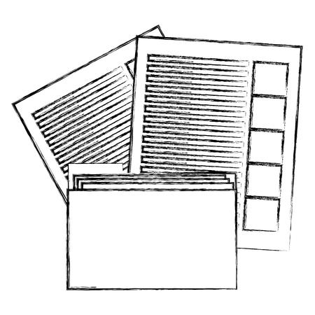 file folder with documents vector illustration design Иллюстрация
