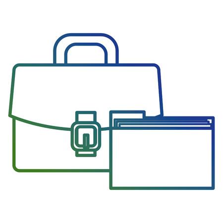 portfolio with file folder vector illustration design