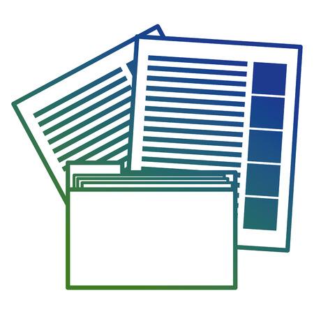 file folder with documents vector illustration design Stock Illustratie