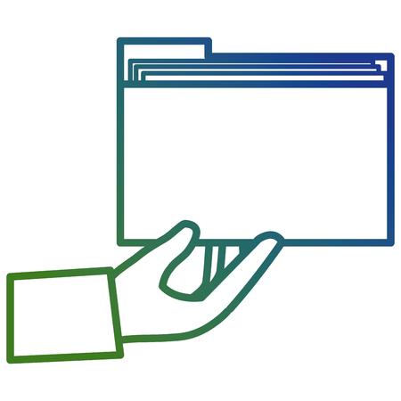 hand with file folder vector illustration design Imagens - 111865389