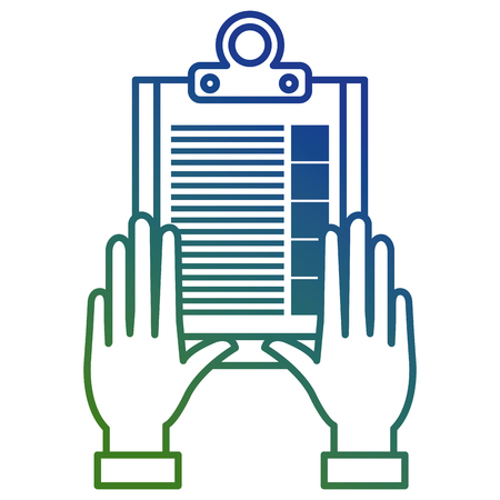 hand with checklist clipboard vector illustration design