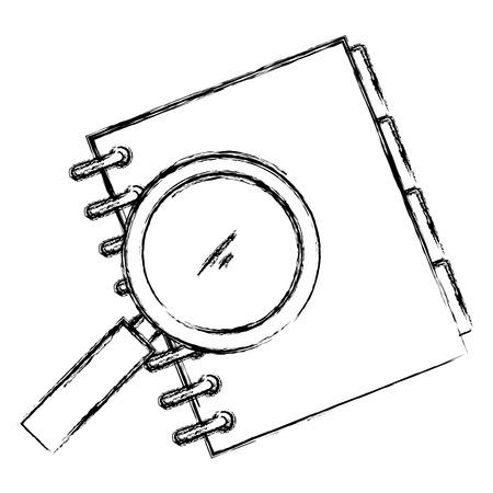 notebook agend with pencil vector illustration design Ilustração