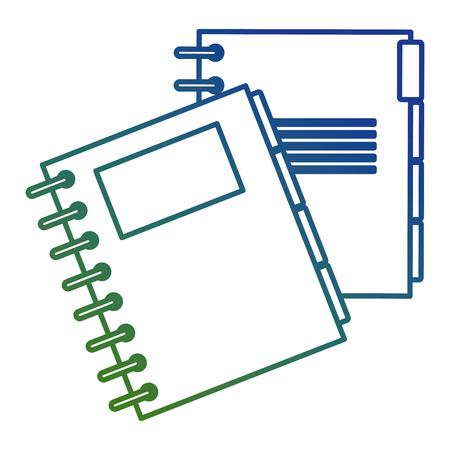 notebook agend isolated icon vector illustration design Ilustração