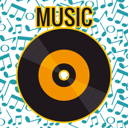 Vinylscheibe isoliert Symbol Vektor-Illustration Design Vektorgrafik