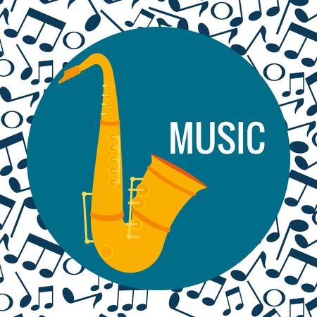 saxophone musical instrument icon vector illustration design Stock Illustratie