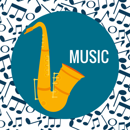 saxophone musical instrument icon vector illustration design 向量圖像