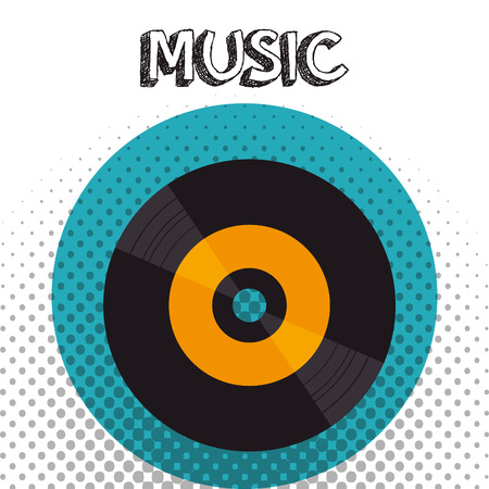 vinyl disk isolated icon vector illustration design 向量圖像