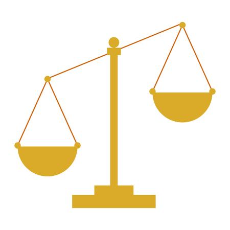 Escala de justicia, diseño de ilustraciones vectoriales icono aislado