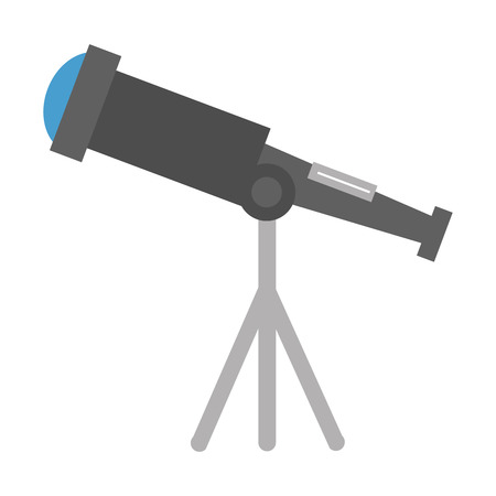 telescope device isolated icon vector illustration design