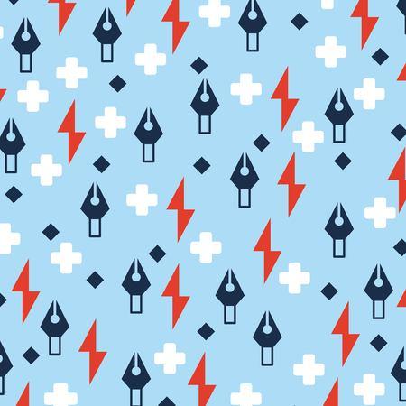 creative idea math signs rays tweezers background vector illustration Illustration