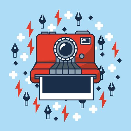 creative idea   camera photos symbols vector illustration