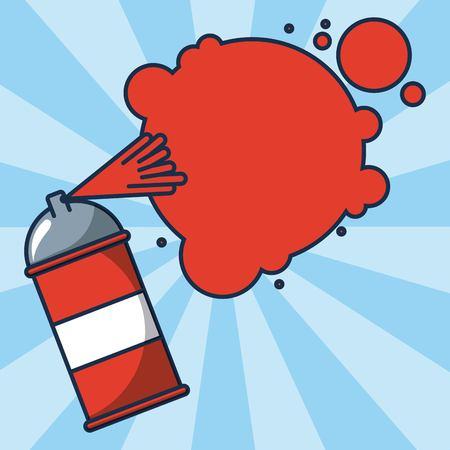 creative idea spray painting red vector illustration