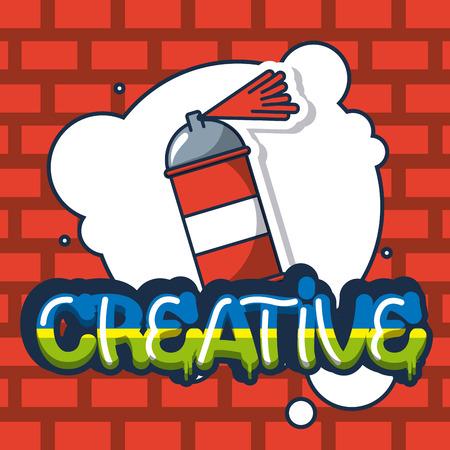 creative idea bubble spray paiting vector illustration Illustration