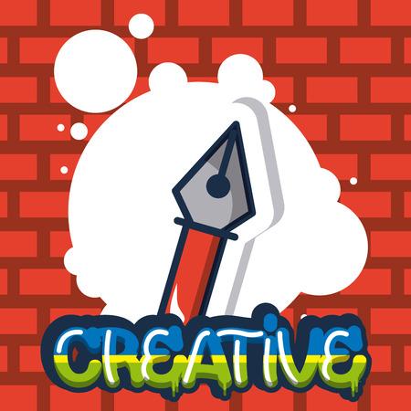 creative idea pin design bubble sign colors vector illustration