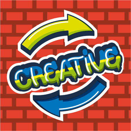 creative idea arrows colors sign design vector illustration