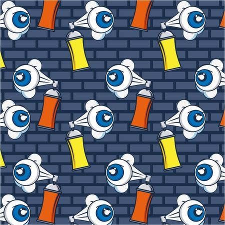 creative idea eyes spray paiting background vector illustration Ilustração