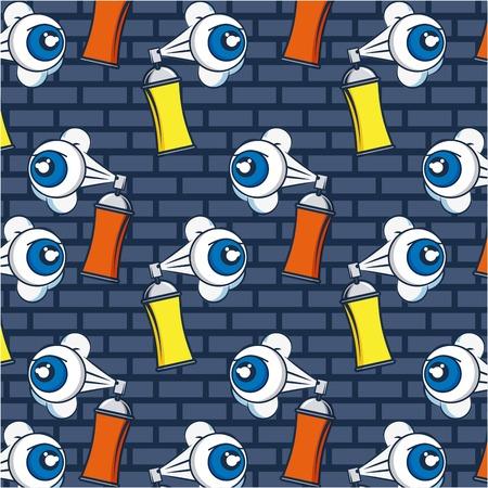 creative idea eyes spray paiting background vector illustration Illusztráció