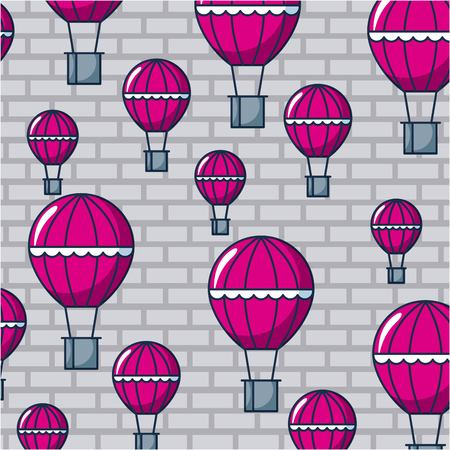 creative idea hot air balloons purple background vector illustration Ilustração