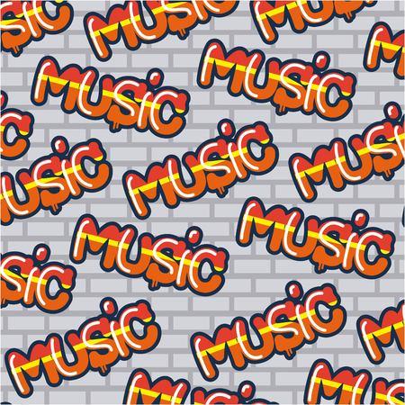 creative idea wall signs music letters background vector illustration Illusztráció