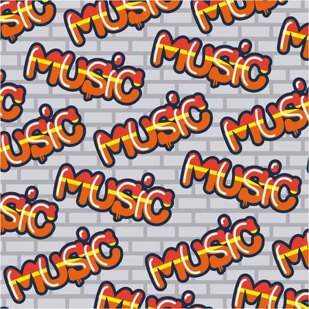 creative idea wall signs music letters background vector illustration Illustration