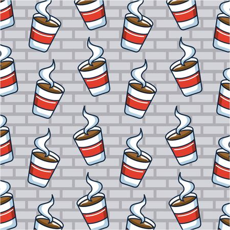 creative idea cup coffees hot background vector illustration