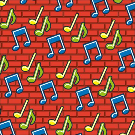 creative idea music icons background vector illustration