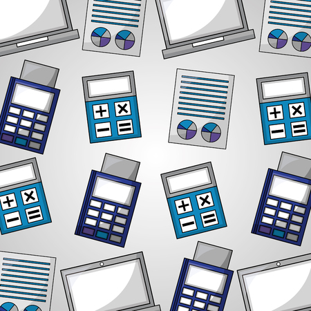 foreign exchange calculator electronic payment background vector illustration
