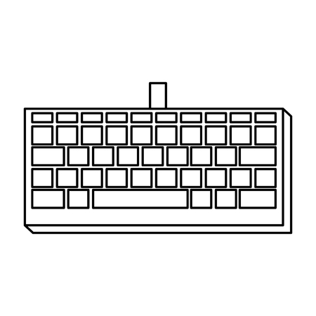 computer keyboard isolated icon vector illustration design Illustration