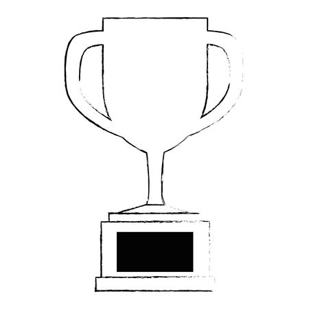 trophy cup isolated icon vector illustration design 일러스트