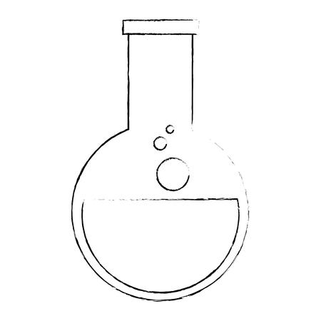 laboratory tube test flask vector illustration design