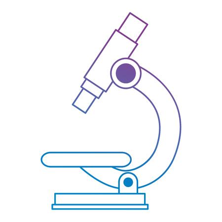 microscope laboratory isolated icon vector illustration design  イラスト・ベクター素材