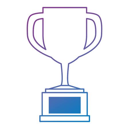 trophy cup isolated icon vector illustration design Ilustração