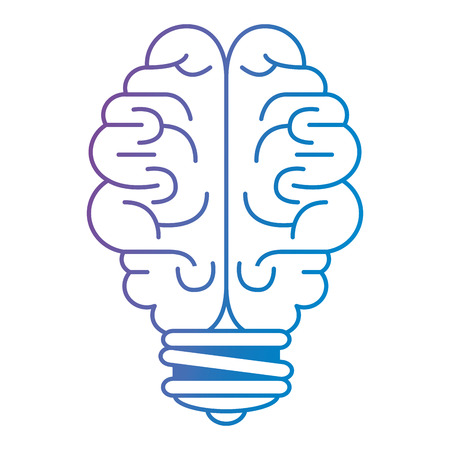 brain storm bulb icon vector illustration design Illustration