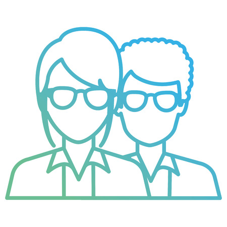 doctors couple avatars characters vector illustration design