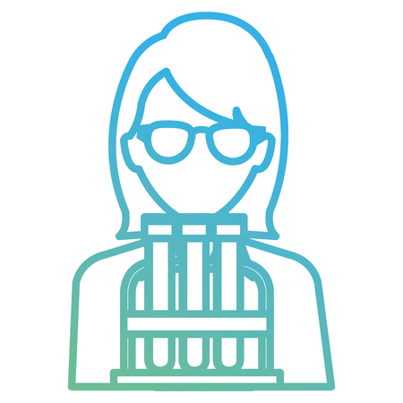 doctor woman with tube test character vector illustration design