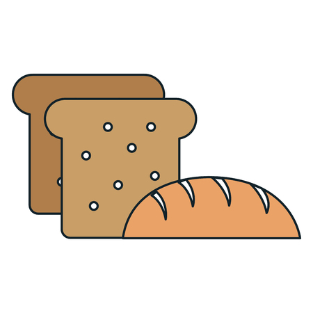 delicious bread and toast vector illustration design