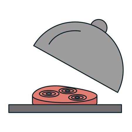 delicious ham with tray vector illustration design Иллюстрация