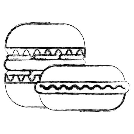 delicious burger with sandwish vector illustration design Illustration