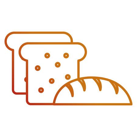 delicious bread and toast vector illustration design Stock Vector - 111735802