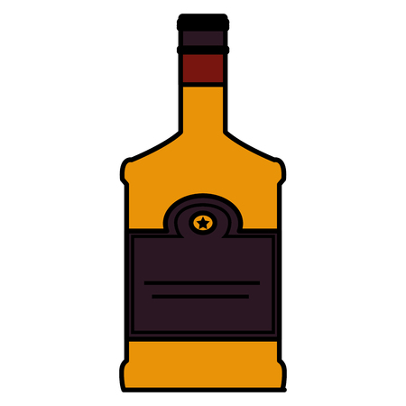 whiskey bottle drink icon vector illustration design 版權商用圖片 - 106902426